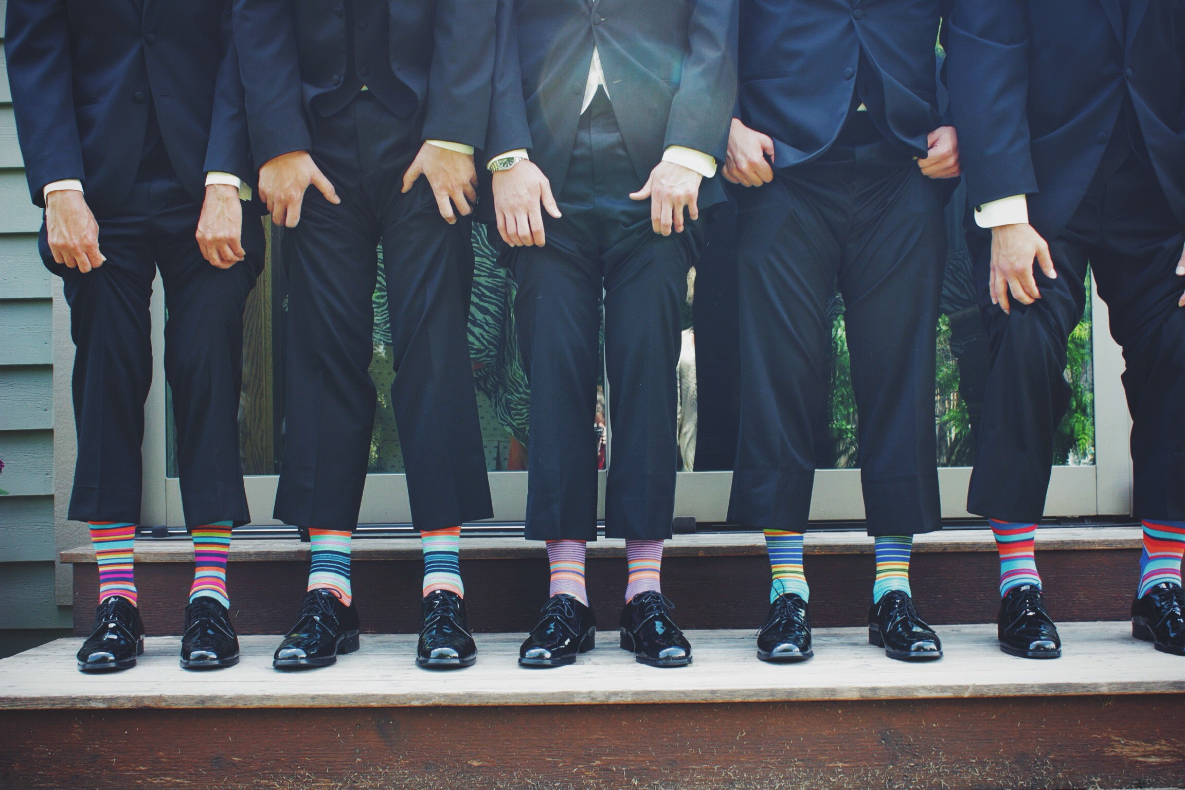 Your groomsmen duties may include wearing colorful socks.