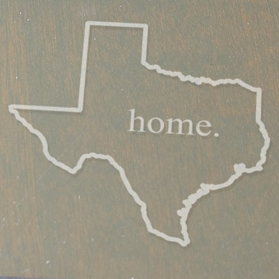 "Your home state will be engraved on each coaster along with the word ""home"""