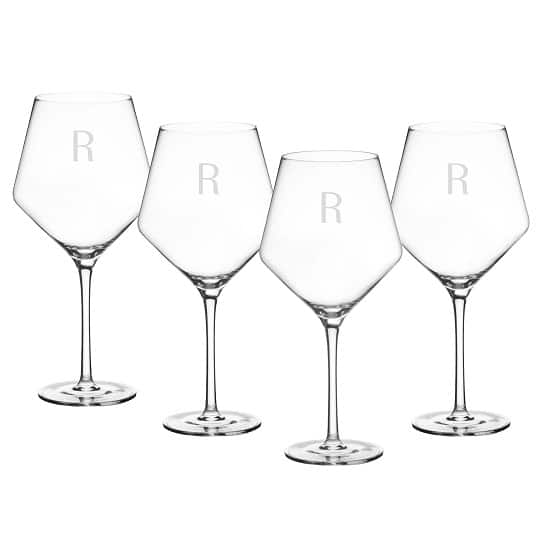 Estate red wine glass set for bridemaids