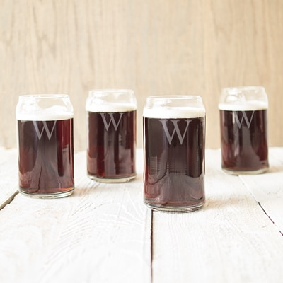Enjoy your next porter, stout or amber ale out of a glass shaped like a beer can.