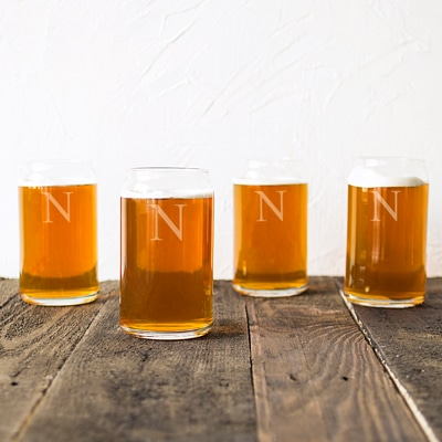 Each glass will be monogrammed with the initial of your choosing.