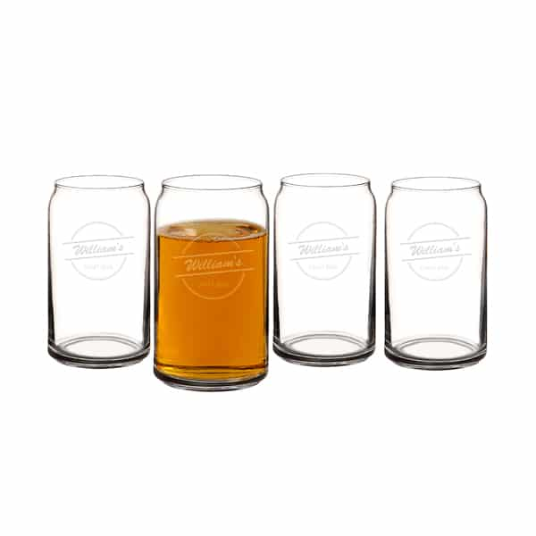 Home Brew Personalized Can Glasses (Set of 4)