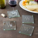 The coasters are great for wine, beer and mixed drinks.