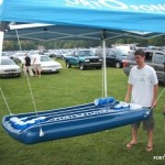 Portopong can be set up for tailgates, pool parties and in college dorm rooms.
