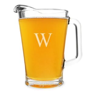 Personalized 60oz Glass All-Purpose Pitcher