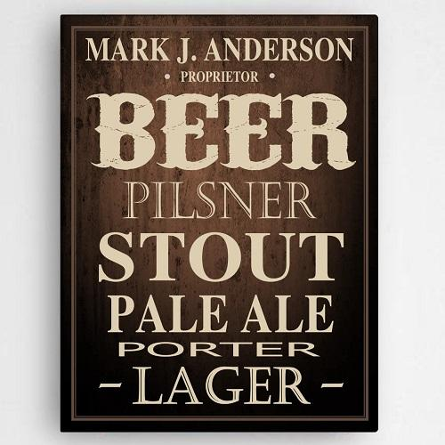 Personalized Beer Lover's Canvas Print