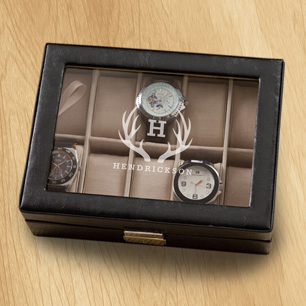Antler monogram design on the men's GC1400 Watch Case