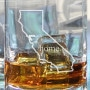 California drinking glass filled with whiskey