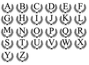 Ceasar Monogram Alphabet