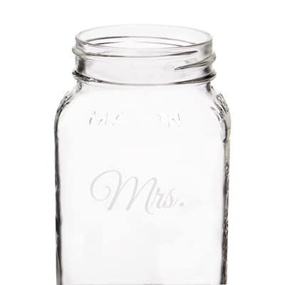 Close-up of the Mrs. jar