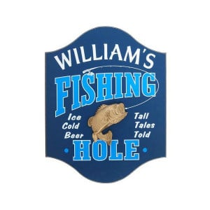 Custom Fishing Hole Pub Sign