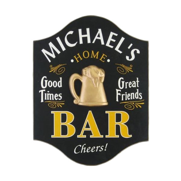 Custom Home Bar Wood Sign