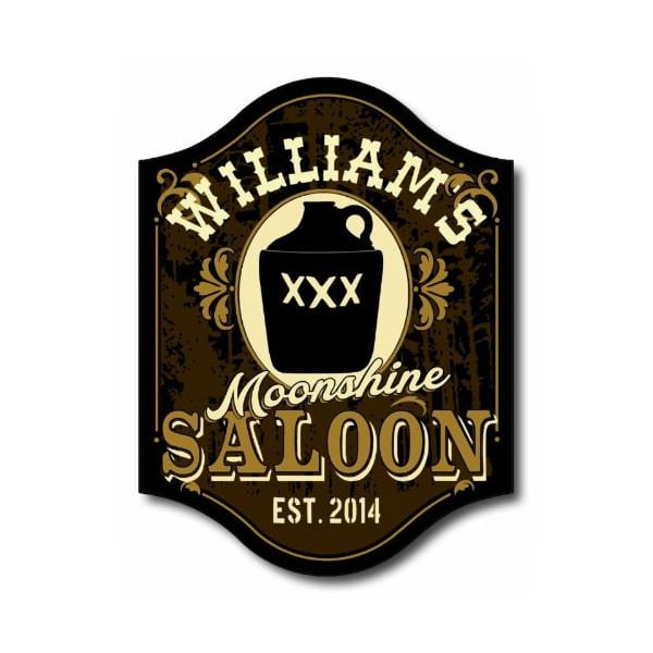Custom Moonshine Saloon Pub Sign