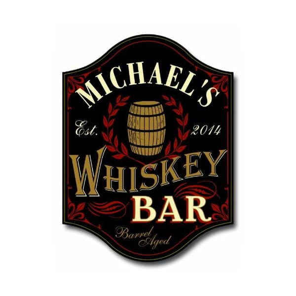 Custom Whiskey Bar Sign