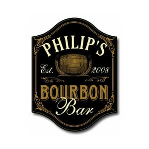 Custom Wood Bourbon Bar Sign
