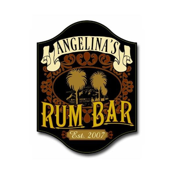 Custom Wood Rum Bar Sign