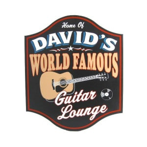 Custom World Famous Guitar Lounge Sign
