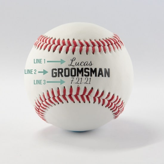 Custom personalization of baseballs by The Man Registry