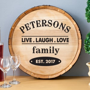 Personalized Wine Barrel Head Signs