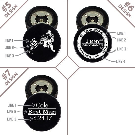 Hockey Puck Bottle Opener Designs 2