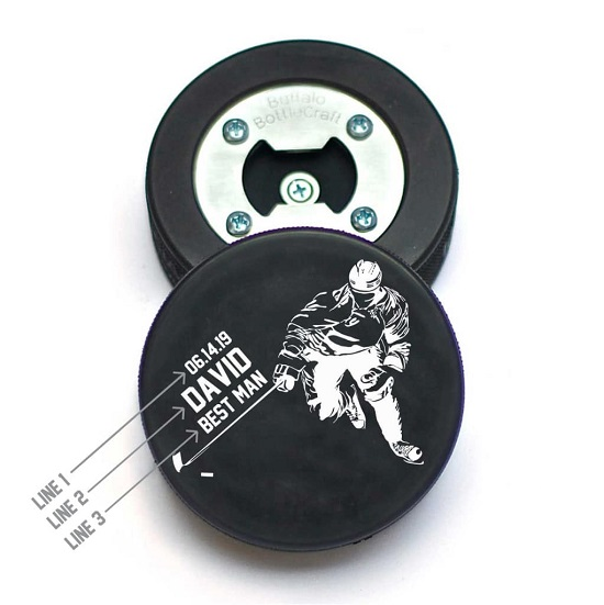 Hockey Puck Skater Design