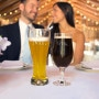 Incorporate the bride and grooms love of beer into the wedding day with this pilsner set