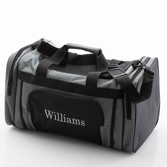 Men love the classic black and grey design of our gym cooler bag.