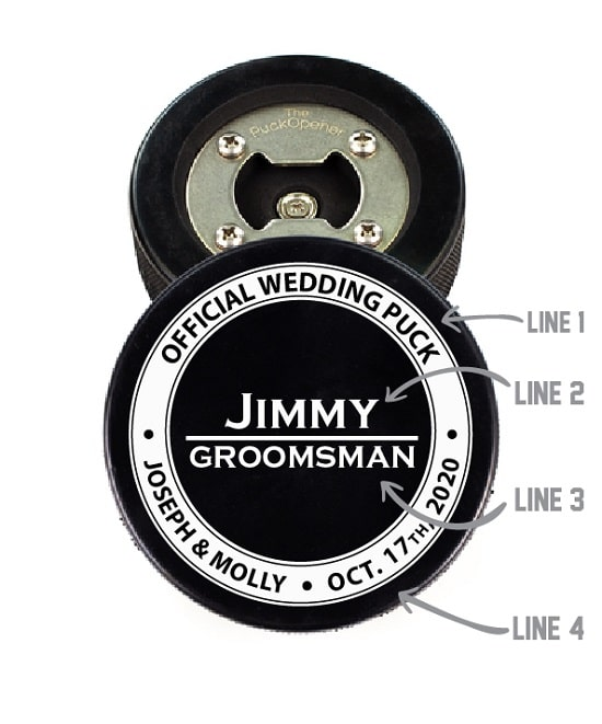 Official Wedding Puck - Hockey Puck Bottle Opener