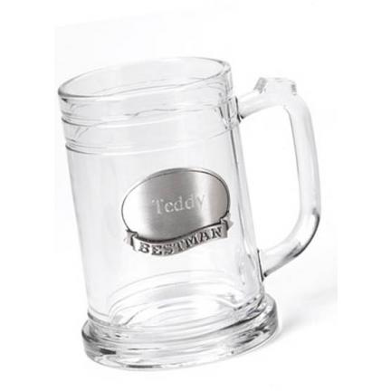 Personalized 16 oz. Beer Mug for Groomsmen