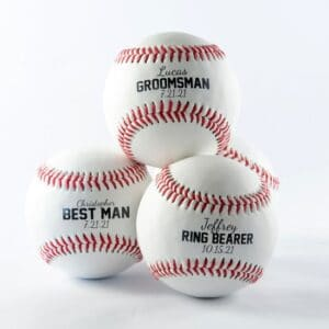 Personalized Baseball – Custom Printed for Wedding Party