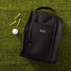 Personalized Black Golf Shoe Bag with Easy-Carry Handle - 1199