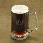 Personalized Caesar Monogrammed Beer Mug