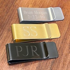 Personalized Classic No-Slip Men's Money Clip (with Gift Tin)