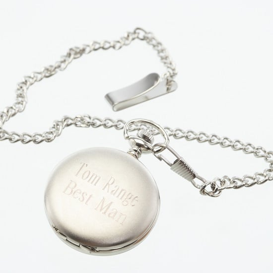 Personalized Classic Silver Pocket Watch