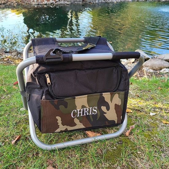 Personalized Deluxe Camouflage Cooler Chair - TMR081