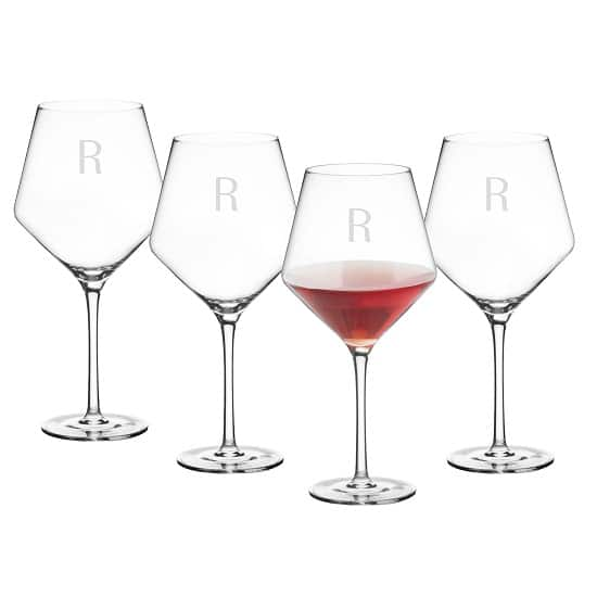 Personalized Estate Red Wine Glasses (Set of 4)- 1209R-4