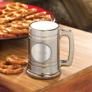 Personalized Gunmetal Beer Mug Groomsmen Gift