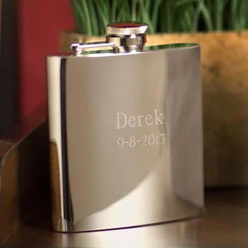 Personalized High Polish 6oz. Speakeasy Flask