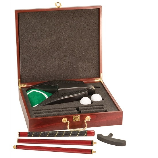 Personalized Rosewood Deluxe Golf Putter Set (for Office & Man Cave)