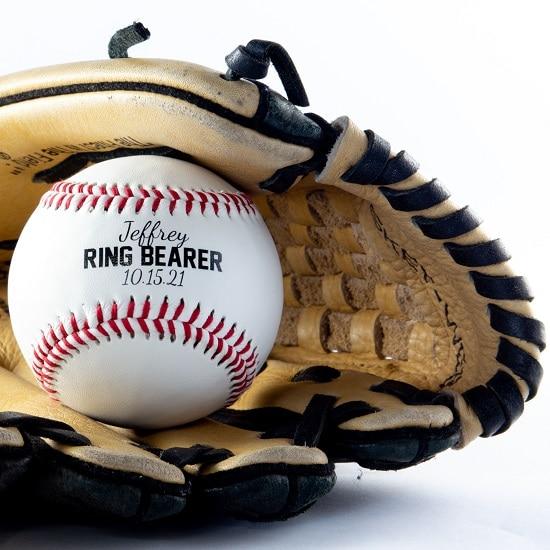 Personalized Wedding Baseball for Ring Bearer