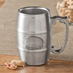 Personalized Wedding Party Tankard with Pewter Medallion