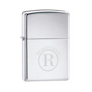 Personalized Zippo High Polish Chrome Lighter - GC140