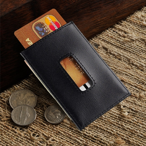 Personalized credit card holder for groomsmen
