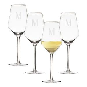 Personalized Estate White Wine Glasses (Set of 4) - 1209W-4