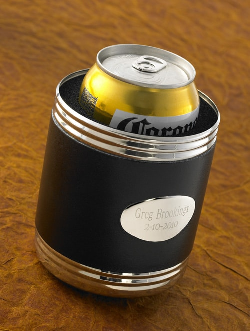 Personalized Leather Can Koozie