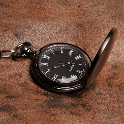 face of gunmetal pocket watch