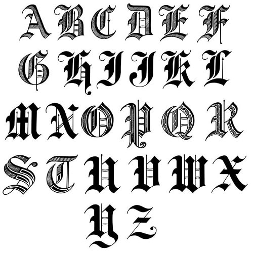 The Man Registry's Old English Engraving Font