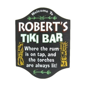 Custom Tiki Bar Sign