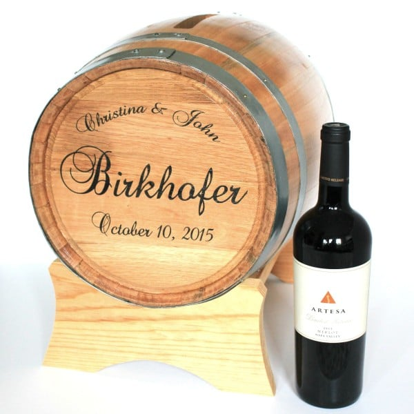Personalized Wine Barrel Wedding Card Holder - The Man Registry