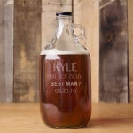 Personalized best man growler